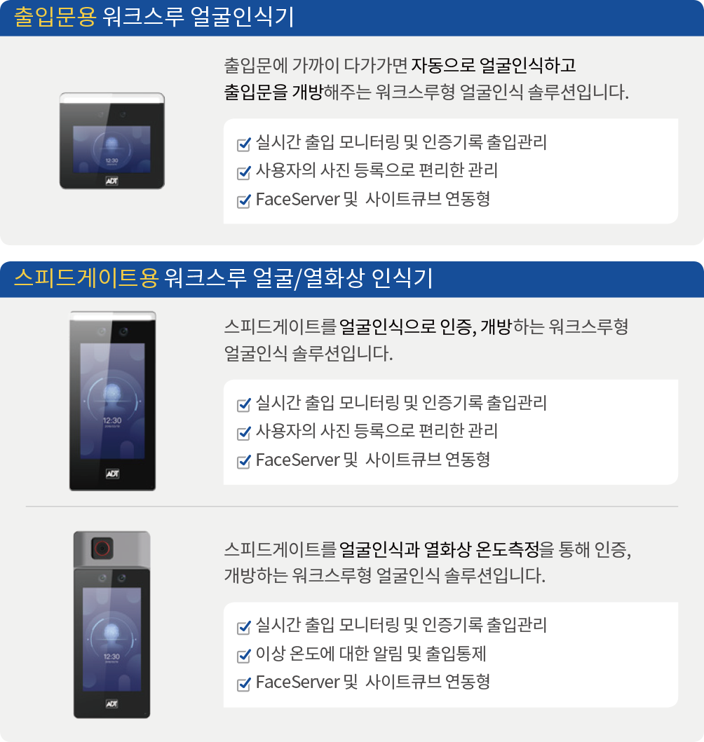 캡스 얼굴인식 출입솔루션 제품 소개